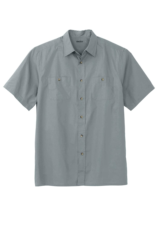 KingSize Mens Big /& Tall Short Sleeve Solid Sport Shirt