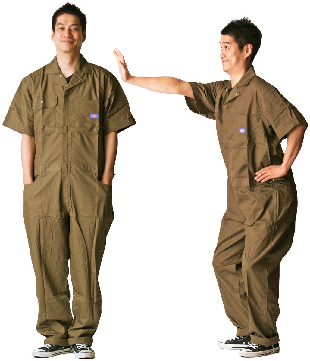 ディッキーズ Dickies (山田辰)夏用半袖 ツヅキ服 713 ブラウン 4Lサイズ B008H1TJB0