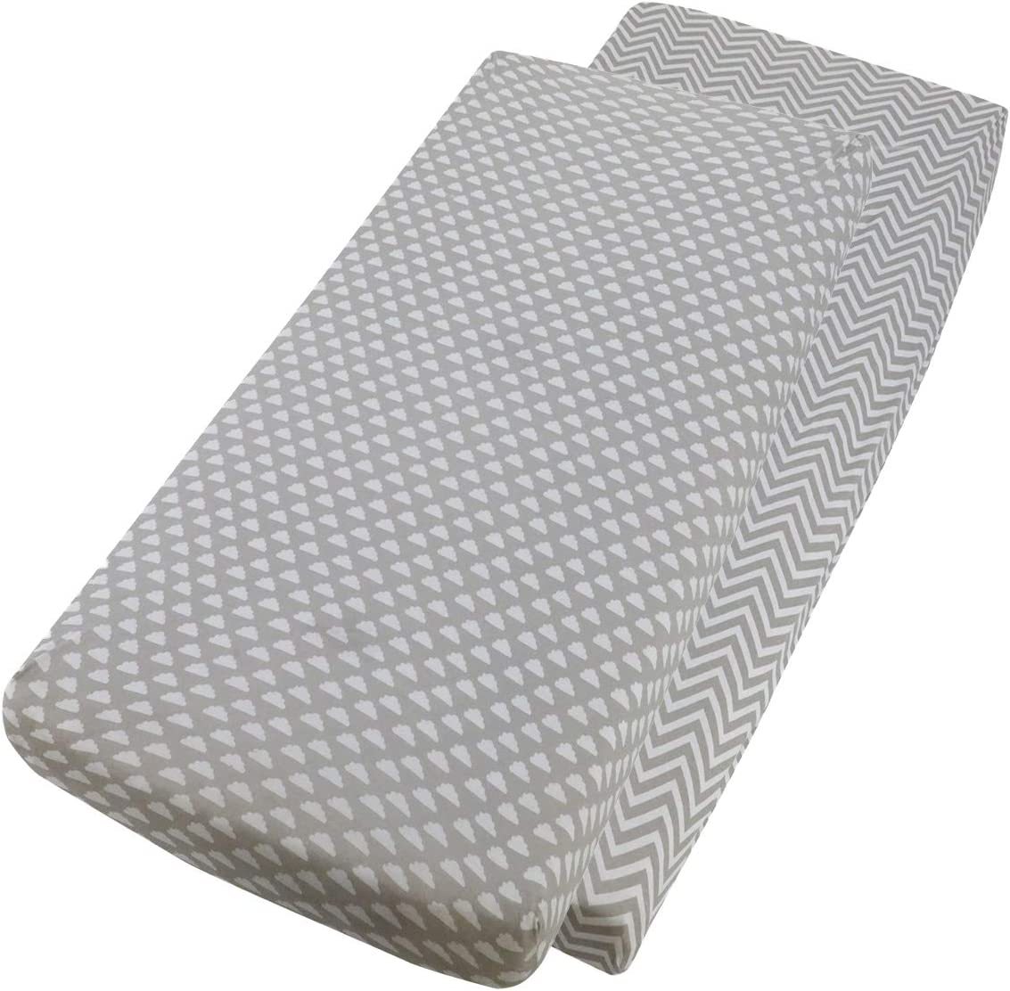 Jersey Fitted Sheet Compatible with Babylo Cozi Sleeper 55x90cm 2x Light Grey