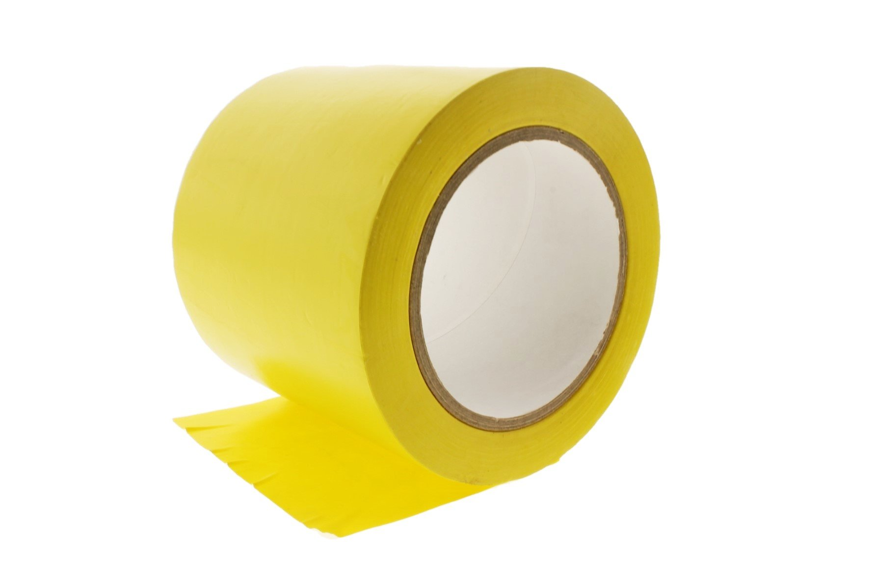 4'' General Purpose Yellow Insulated Adhesive PVC Vinyl Sealing Coding Marking Electrical Tape (3.76 in 96MM) 36 yard 7 mil