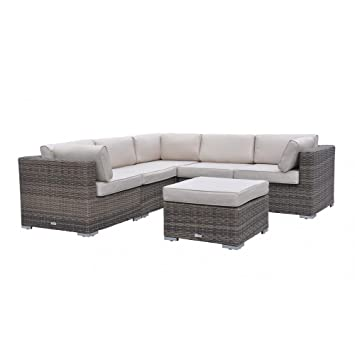 radeway sectional outdoor patio furniture sets wicker rattan sofa with covers mix brown
