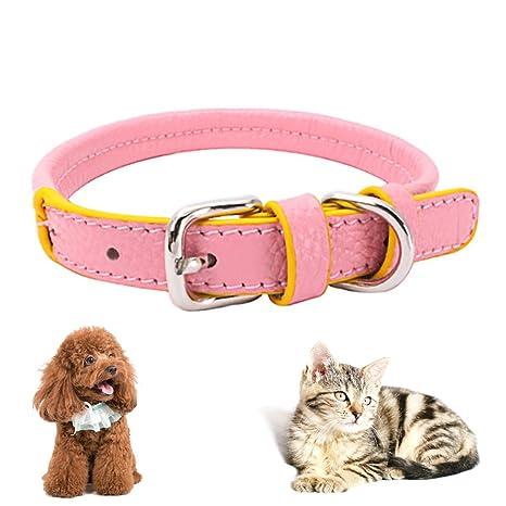 Collar De Perro, Legendog Collar De Perro De Cuero Collar De Gato Ajustable Collar De