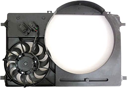 2015-2018 Ford Transit T 150 Cargo Van Radiator And Condenser Fan Assembly With Two Fans Side By Side; 3.2L V6; With One Electric Fan Only; DOEs Not Include Engine Driven Fan Partslink FO3115218