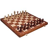 "Chess Set - Tournament Staunton Complete No. 6 Board Game - Hand Made European 21""x 21"" Set"
