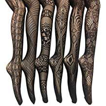 Frenchic Fishnet Lace Stocking Tights Extended Sizes (Pack of 6)