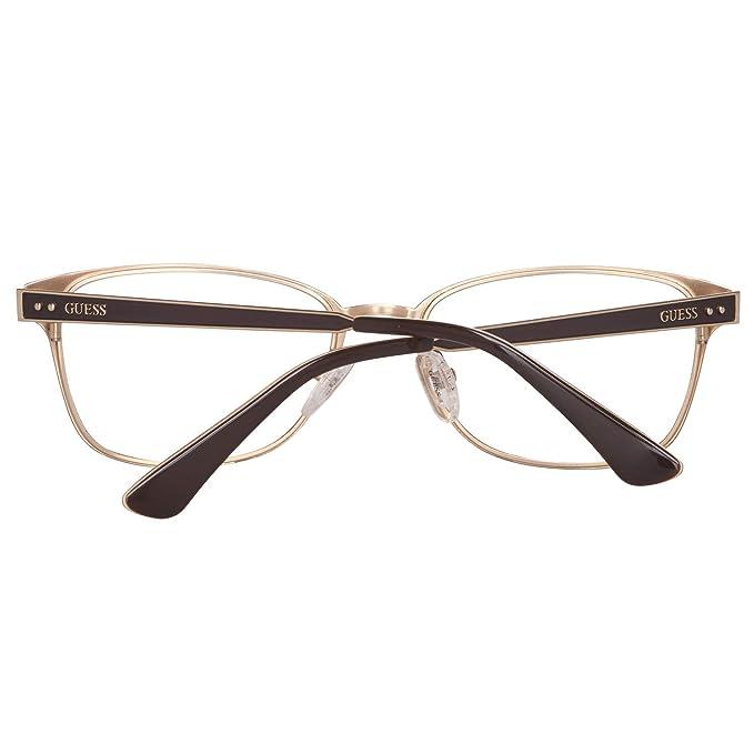 025da2a7490 Guess Women s Eyeglasses GU2550 GU 2550 049 Black Full Rim Optical Frame  52mm at Amazon Men s Clothing store