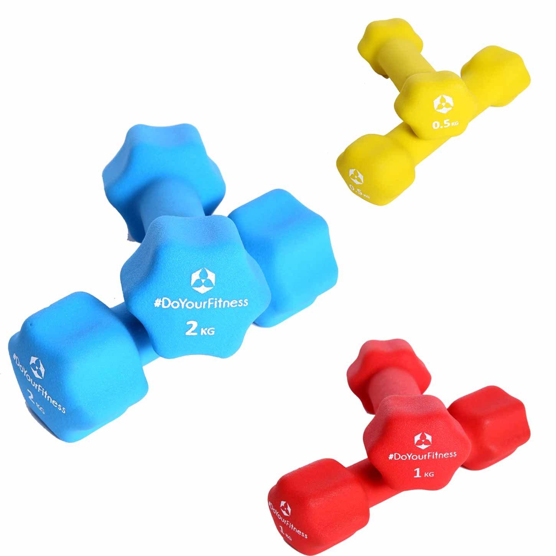 6er-Set Hanteln Gewichte mit Rutschfester Neoprenoberfläche in Sternform Das Kurzhantel-Set eignet Sich für Fitnesstraining, Aerobic   3X Paar-Hanteln je nach Auswahl