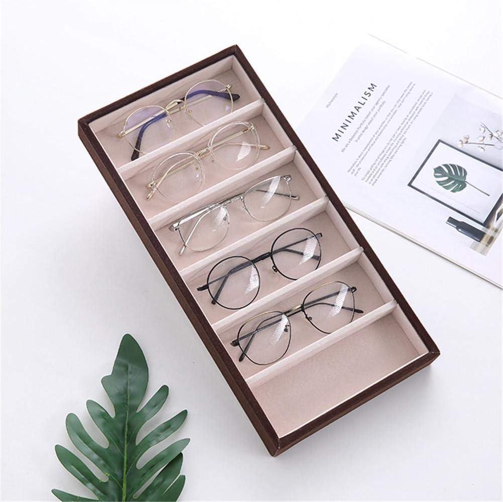 Brillenablage 38 X 18,5 X 3,5 cm 6 F/ächer Brillen Sonnenbrille Aufbewahrungskoffer Box Esplic Brille Anzeige Veranstalter