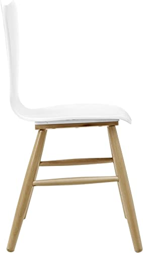 Modway Cascade Mid-Century Modern Wood Kitchen and Dining Room Chair