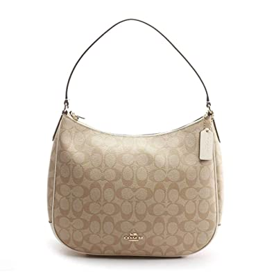16d4d8ab Amazon.com: Coach Women's Zip-Top Tote No Size (IM/Light Khaki/Chalk ...