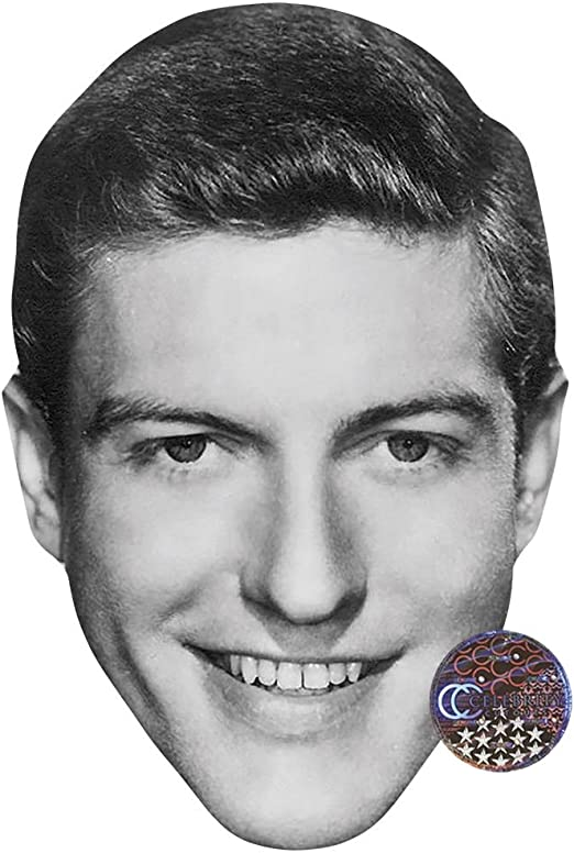George Harrison Card Face and Fancy Dress Mask BW Celebrity Mask