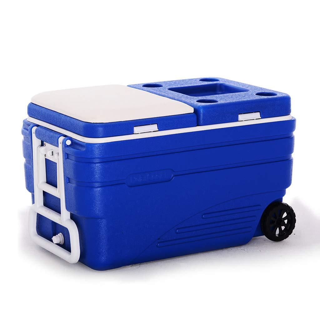 MLXBWH Isolierbox, Hochwertiger Take Away Aufbewahrungsbox Frischer Transport Kühlschrank Frischer Kasten mit Thermometer