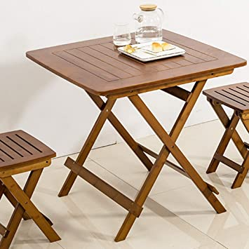 LZY Mesa plegable de bambú, mesa de escritorio de madera de ...