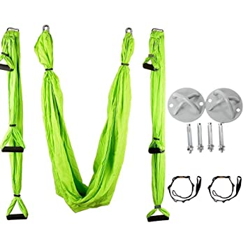 aerial yoga hammock kit yoga swing set with installation hardware and 2 extension straps amazon     aerial yoga hammock kit yoga swing set with      rh   amazon