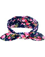 DZT1968® Baby Girl Floral Rabbit Ear Wide Turban Headband Head Wrap Knotted Hair Band