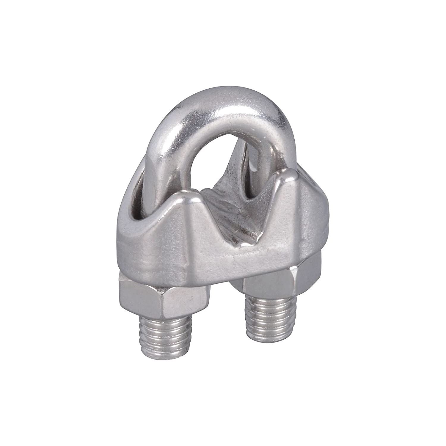 National Hardware N348-904 V4230 1//4in Wire Cable Clamps Stainless Steel 8 Pack