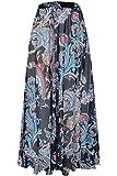 Pretchic Women's Blossom Floral Chiffon Maxi Long Skirt