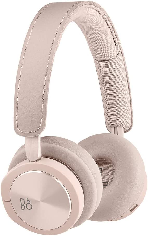 Bang & Olufsen Beoplay H8i Wireless Bluetooth On-Ear Headphones with Active Noise Cancellation, Transparency Mode and Microphone - Pink