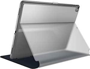 Speck Products Compatible Case for Apple iPad 9.7-inch (2017/2018, also fits 9.7-inch iPad Pro), Balance FOLIO Case and Stand, Clear/Black