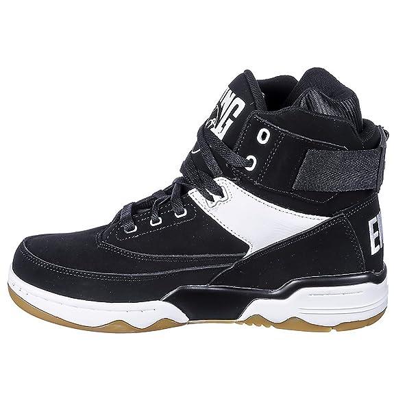 Patrick Ewing - Zapatillas de piel/sintético para hombre Multicolor negro/blanco multicolor Negro y blanco Talla:8,5 UK: Amazon.es: Deportes y aire libre