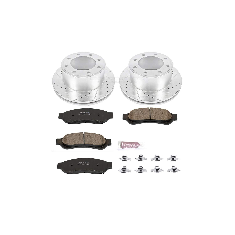 Power Stop K5578 Rear Brake Kit with Drilled//Slotted Brake Rotors and Z23 Evolution Ceramic Brake Pads