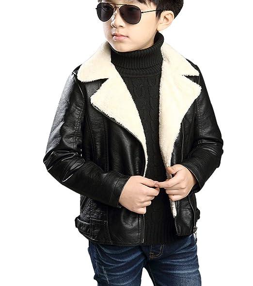 YoungSoul Giacche ecopelle bambino - Manica lunga - Giubbotti finta pelle  moto autunnali invernali - Cappotti 3347ebac681
