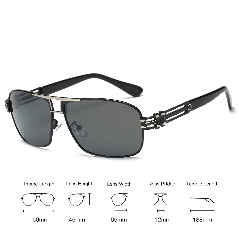 50a85188f3b Amazon.com  Galulas Retro Style Large Square Polarized Glasses ...