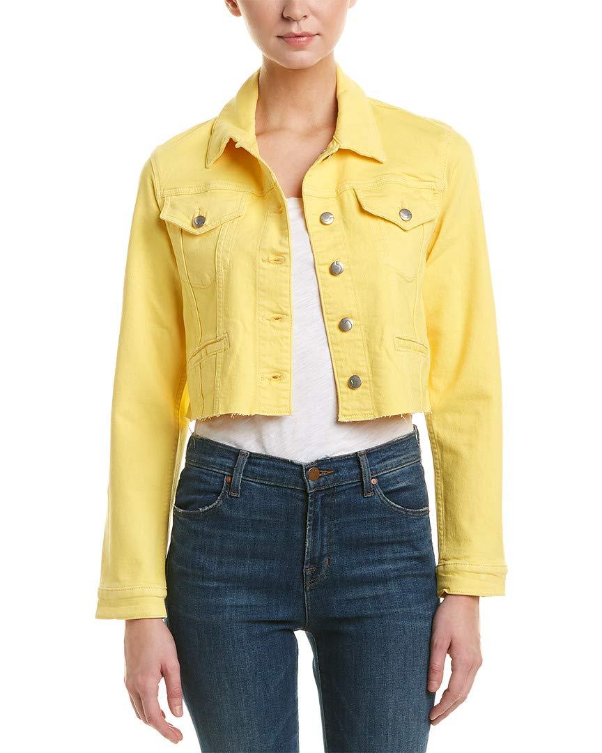 Joe's Jeans Women's 80'S Crop Jacket, Pale Marigold, S