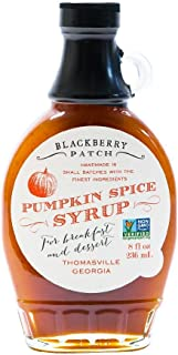 product image for Pumpkin Spice Syrup 3 Ingredients - Blackberry Patch 8 oz Bottle - Oprahs Favorite Things 2014, Small Batch & Handmade in Georgia, Perfect on Pancakes, Waffles & French Toast, Great Dessert Topping