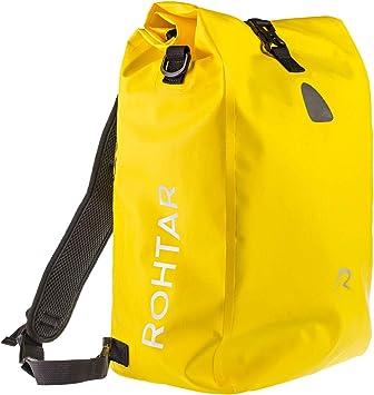 Rohtar 3in1 Fahrradtasche wasserdicht & reflektierend als Gepäckträgertasche, Umhängetasche & Rucksack einsetzbar ideale Gepäcktasche fürs