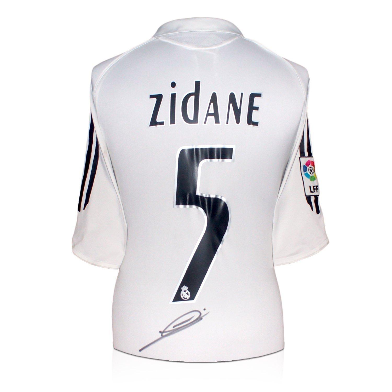 Zinedine Zidane Real Madrid 2005-06 camiseta de fútbol firmada: Amazon.es: Deportes y aire libre