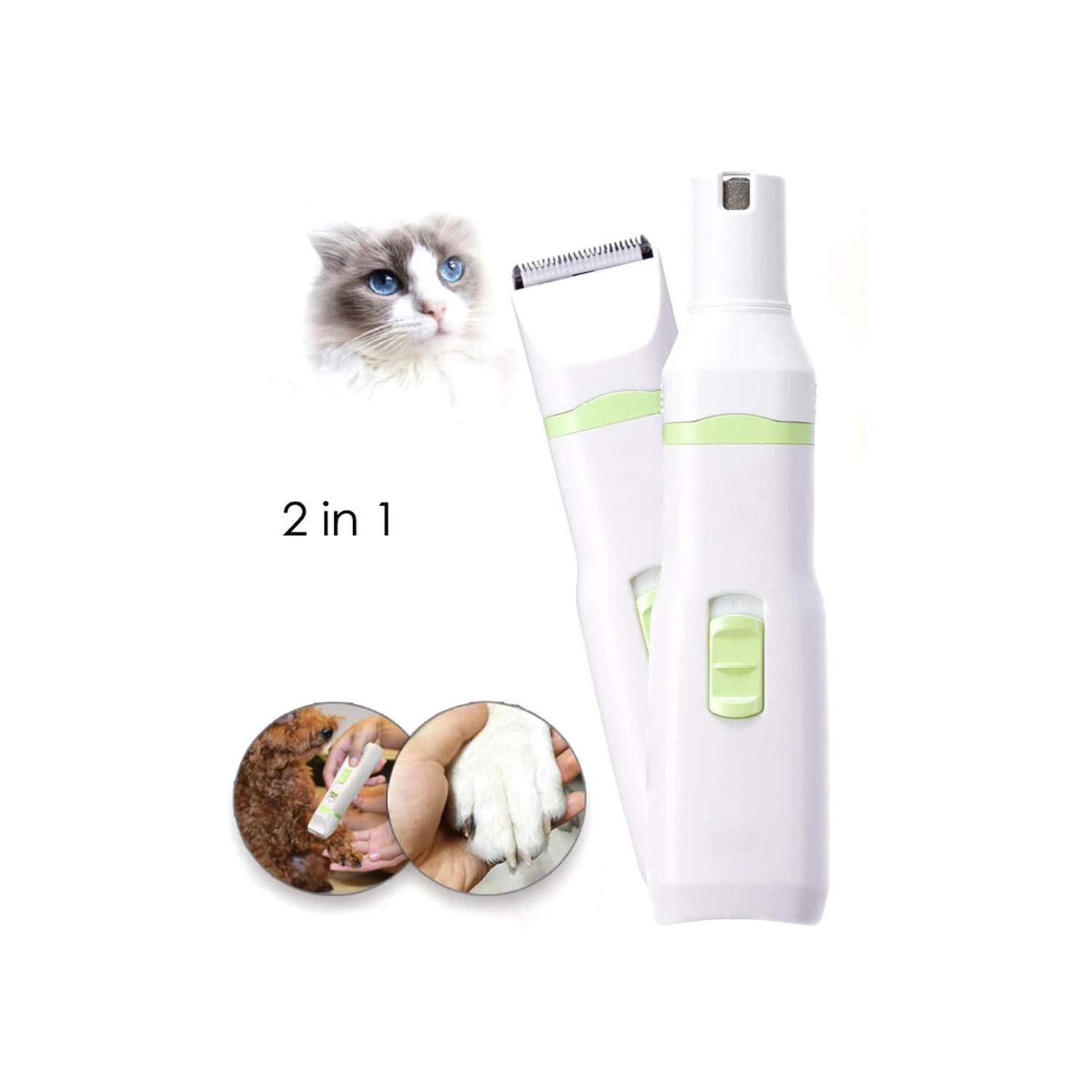 Pet Dog Cat Hair Trimmer Paw Nail Grinder Grooming Clippers Nail Cutter Hair Cutting Machine