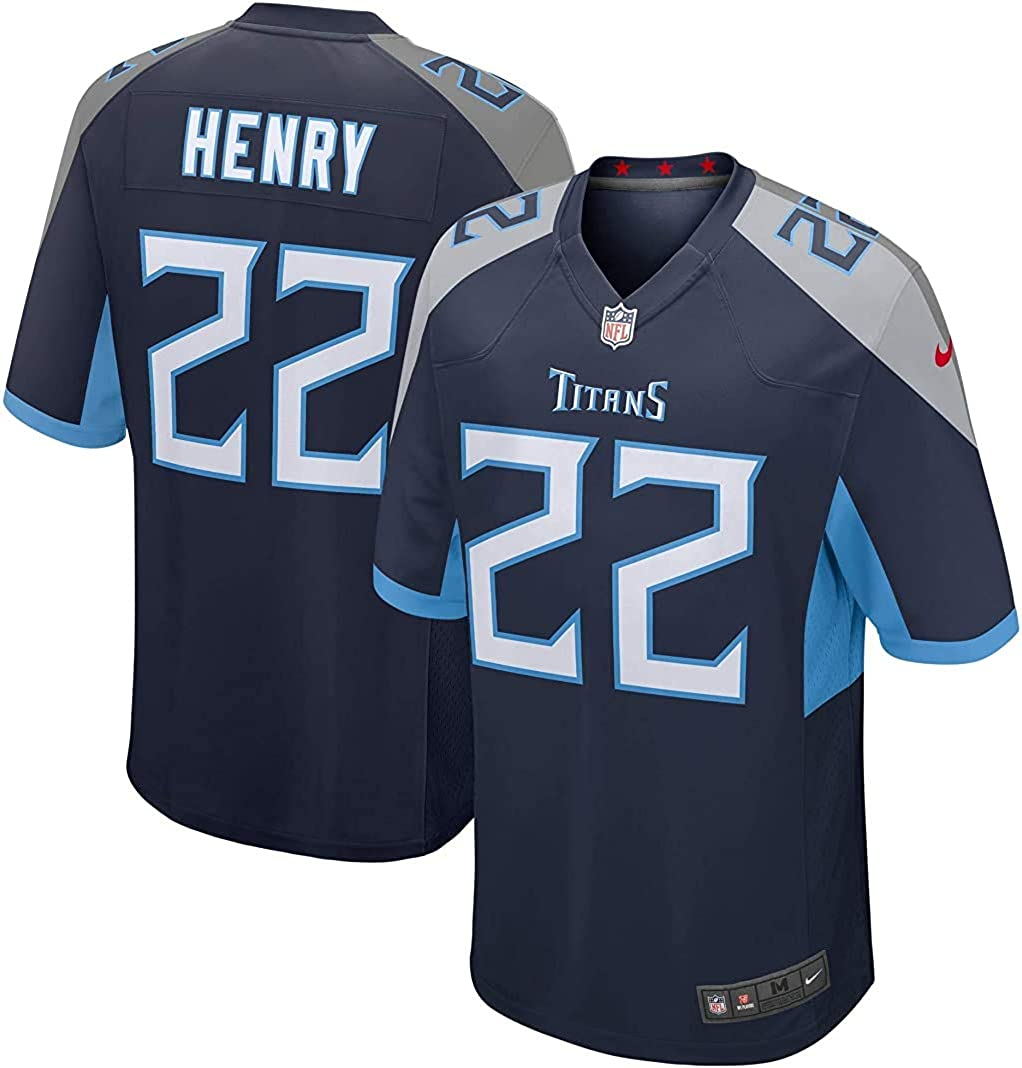 Derrick Henry Tennessee Titans #22 Navy Youth 8-20 Home Game Day Player Jersey