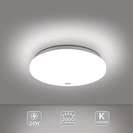 Lámpara LED de techo 12 pulgadas 24W 2000 lúmenes 4500K luz blanca ...