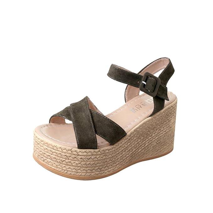 Sandalias mujer verano 2018, Covermason Thick flat woman shoes Flatform: Amazon.es: Ropa y accesorios