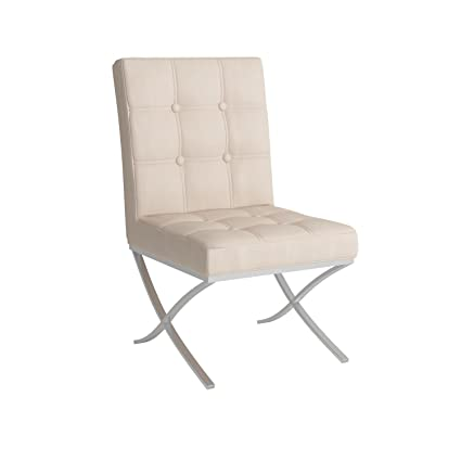 Amazon.com - Best Selling Milania Leather Dining Chair, White, Set ...