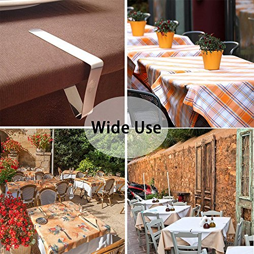 Bestxun Picnic Tablecloth Clips, 24 Pack Outdoor Table Cover Clips Flexible Stainless Steel Table Cover Clamps for Inside Outdoor Patio Park Garden Birthday Wedding Party ( 2 Sizes Included) by Bestxun (Image #2)