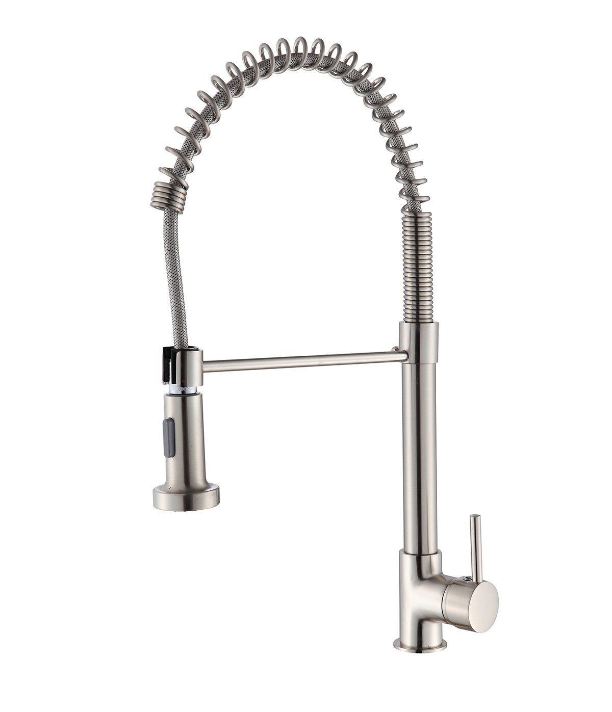BuyHive Faucet Kitchen Home Pull Down Sprayer Swivel Spout Out Sink Mixer Tap Brushed Nickel Single Handle