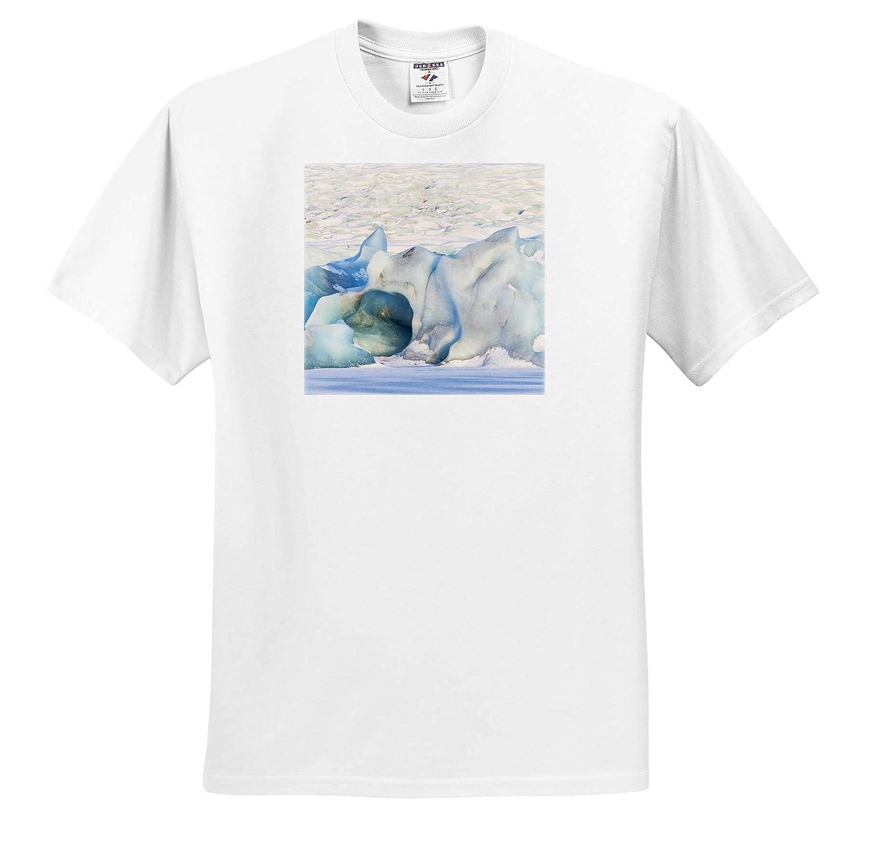 Iceland Skaftafell National Park ts/_313660 Iceland Vatnajokull Glacier - Adult T-Shirt XL 3dRose Danita Delimont