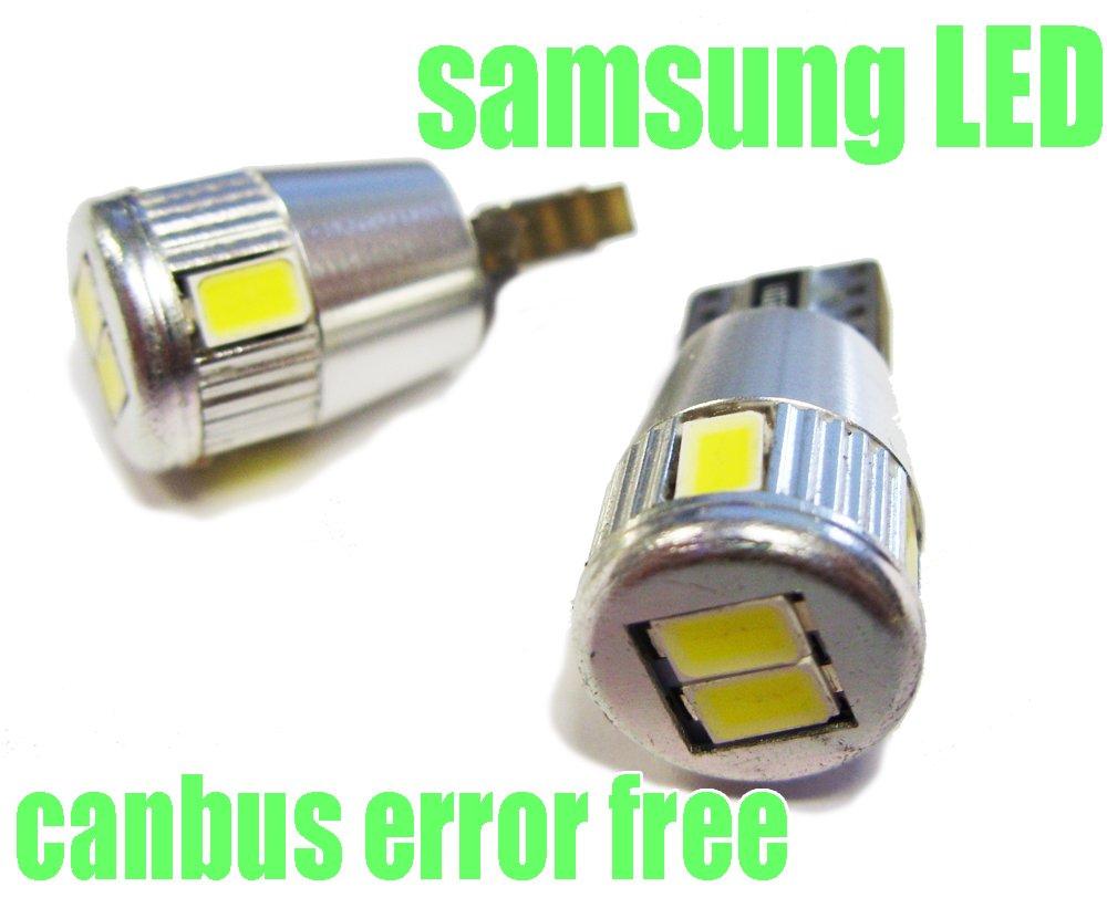 T10C6W pas derreur Blanc Canbus SMD LED lampe ampoule de rechange feux de position W5W T10 12V 6 LED SMD /éclairage de plaque dimmatriculation /éclairage int/érieur