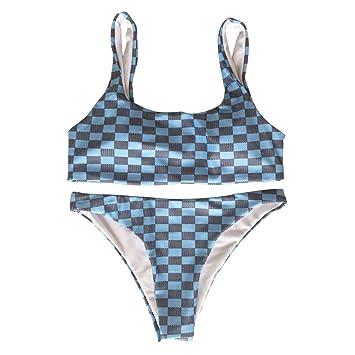 b2b94faac3d5 BIKINIS Traje de Baño Bikini Traje de Baño Dividido Rayas de una ...