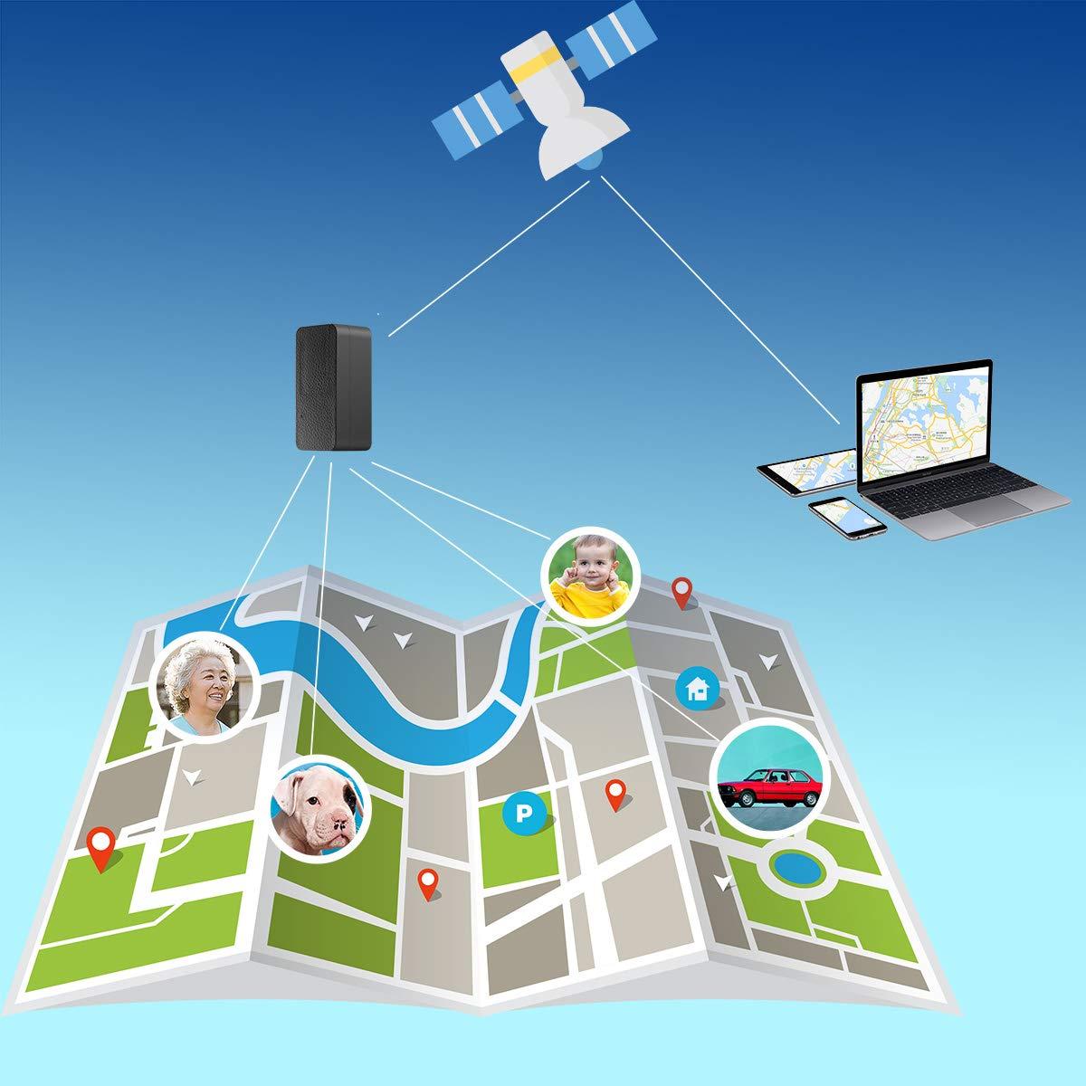BuFan Mini GPS Tracker GPS Portatile Tempo Reale Anti Loss Localizzatore GPS per Bambini Wallet Bags Documenti Importanti Lost Viewfinder con App Gratuita per iOS e Android