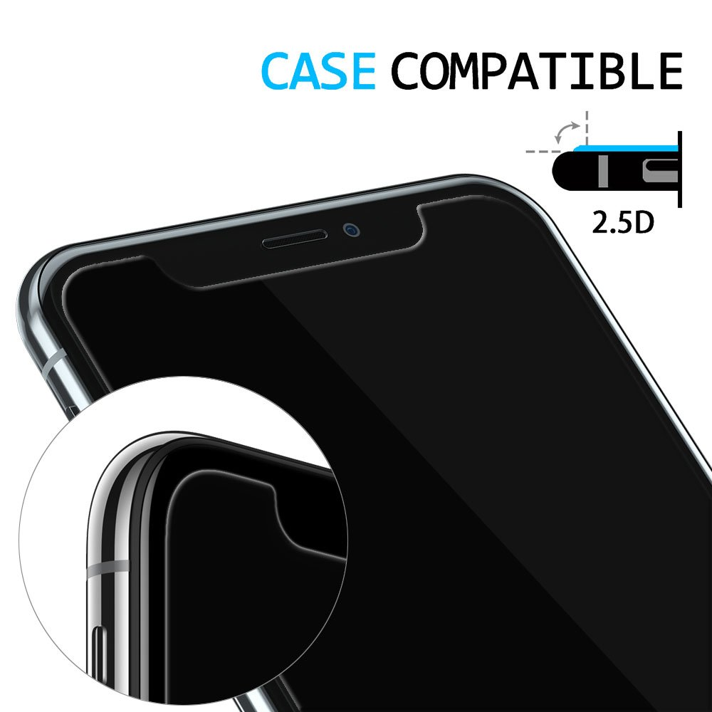 iPhone X Screen Protector, Mookee (Privacy Black) iPhone X Tempered Glass Screen Protector Privacy Screen Protectors Glass Anti-Spy/Scratch/Fingerprint (Work with most case) Easy Install