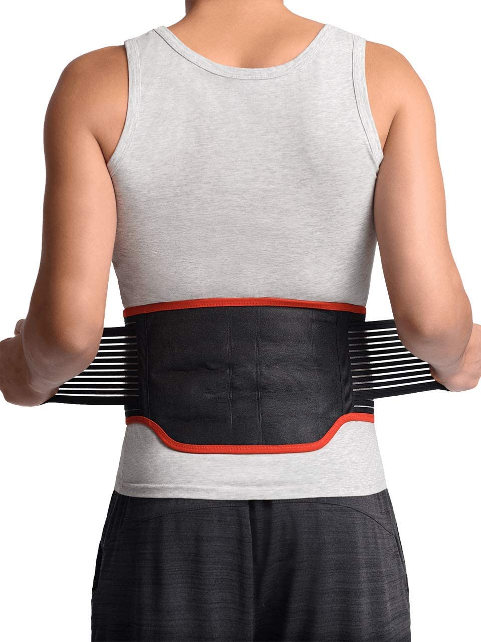 """Maxar BMS-511 Lumbar Support Back Brace with 31 Powerful Magnets, Far Infrared Technology, Magnetic Therapy Belt, Pain and Stress Relief, Sciatica, Scoliosis, Herniated Disc, Large 36""""-40"""""""