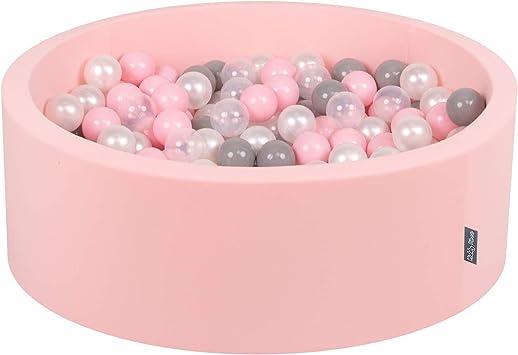 Kiddymoon 90x30cm 200 Bolas 7cm Piscina De Bolas Para Ninos Hecha En La Ue Rosa Perla Gris Transparente Rosa Clr Amazon Es Juguetes Y Juegos
