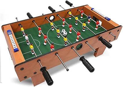 RUIXFFT Futbolín Juego de fútbol Calidad de Escritorio Tablero Deportivo de Madera Futbolín Clásico Fútbol Ligero y portátil, B: Amazon.es: Deportes y aire libre