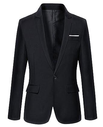 Amazon.com: Miki da traje de hombre Casual elegante Slim Fit ...