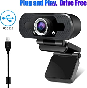 Webcam, WebCam with Microphone,YESKAMO 1080P PC Webcam for Video Calling and Home Office, Recording, Net Meeting, Desktop or Laptop Camera for Skype, Facetime, MSN,USB Computer Camera for Windows, Mac