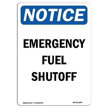 Señal de advertencia de Osha - Combustible de emergencia ...