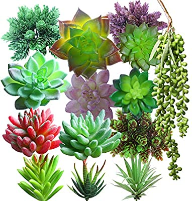 Lasimonne 14 Pcs Faux Succulent Assorted -Fake Succulent Plants,Unpotted Fake Plants for Decoration,Artificial Succulents Picks, Fake Succulent Bouquet